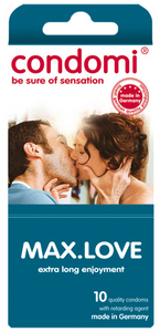 10 stk. CONDOMI - Max Love Kondomer