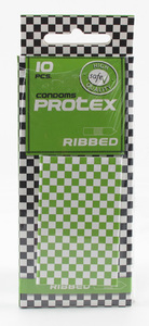 10 stk. Protex - Ribbed Kondomer
