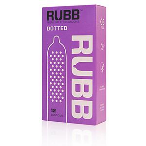12 stk. RUBB Dotted Kondomer